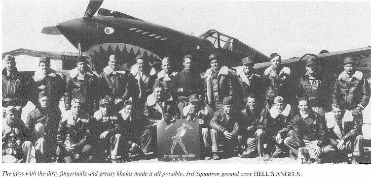 The ground crew of the Hells Angels