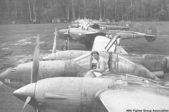 P-38s of the 9th FS, 49th FG
