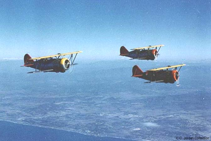Three F3F-3 fighters