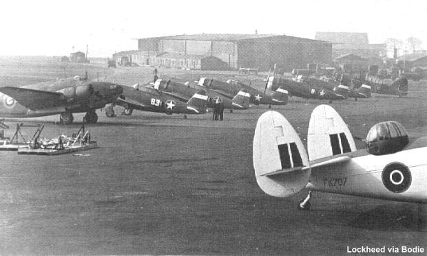 New P-47C's after being assembled in Britain.