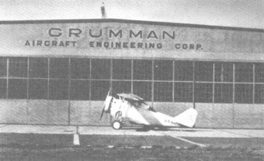 XFF-1 sits in front of Grumman's Curtiss Field facility