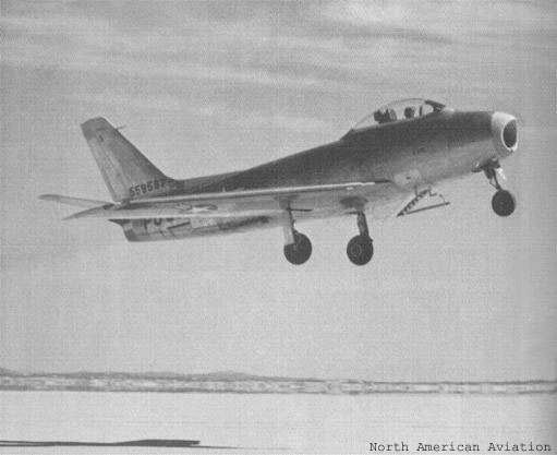 North American's XP-86 taking off