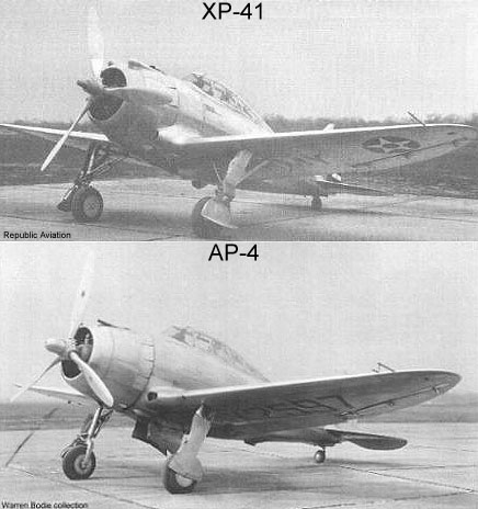XP-41 to AP-4 comparison
