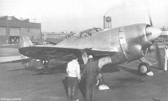 The XP-47J after rollout